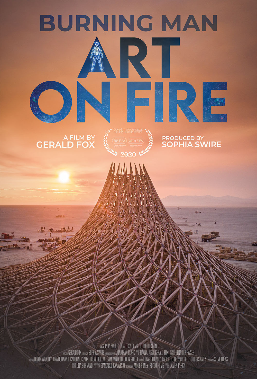 Burning Man - Art On Fire Poster
